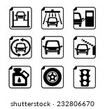 car service icon set   Shutterstock .eps vector #232806670