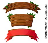 set of dark wooden banners.... | Shutterstock .eps vector #232808983