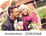 a picture of a couple on... | Shutterstock . vector #232810468