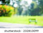 blurred park  natural background | Shutterstock . vector #232813099