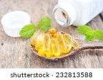 cod liver oil omega 3 gel...   Shutterstock . vector #232813588