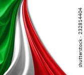 italy flag and white background | Shutterstock . vector #232814404