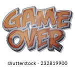 game over wooden icon for ui...