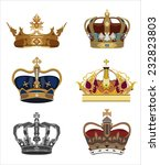 set of  crowns isolated. | Shutterstock .eps vector #232823803