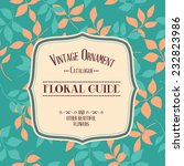 vintage ornament catalog label... | Shutterstock .eps vector #232823986
