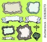 stone frames set in  vector.