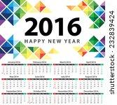 calendar 2016 vector...   Shutterstock .eps vector #232839424