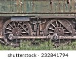 rusty wheels of abandoned train | Shutterstock . vector #232841794