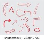 red arrow set.hand drawn arrows.... | Shutterstock .eps vector #232842733