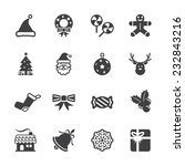 christmas icon set 6  vector... | Shutterstock .eps vector #232843216