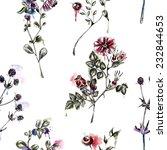 seamless floral pattern  | Shutterstock . vector #232844653