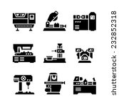 set icons of machine tool... | Shutterstock .eps vector #232852318