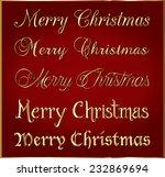 decorative gold christmas... | Shutterstock .eps vector #232869694
