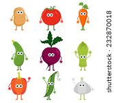 collection of cute vector... | Shutterstock .eps vector #232870018