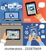 social networks. blogs....   Shutterstock .eps vector #232870609