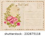 vintage floral postcard with...