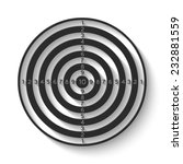 dartboard icon   gray vector... | Shutterstock .eps vector #232881559