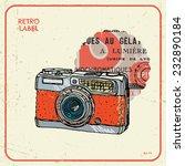 vector illustration of an retro ... | Shutterstock .eps vector #232890184