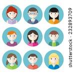 color avatars teenagers boys... | Shutterstock .eps vector #232893709