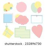 set of labels for children's... | Shutterstock .eps vector #232896730