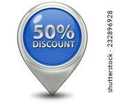 discount 50 pointer icon on...   Shutterstock . vector #232896928
