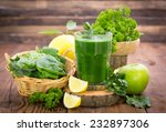 fresh green smoothie in the... | Shutterstock . vector #232897306