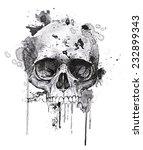 T Shirt Graphics Skull Print...