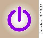 power sign icon. flat design...