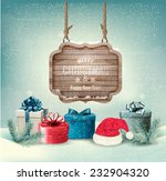 winter background with gift... | Shutterstock .eps vector #232904320