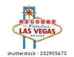 welcome to fabulous las vegas... | Shutterstock . vector #232905673
