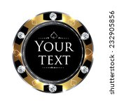 casino chip design | Shutterstock .eps vector #232905856