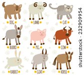 set of illustrations with... | Shutterstock .eps vector #232909954