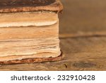 Detail of pages of an old book - close up shot - stock photo