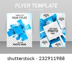 abstract flyer template design...