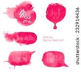 watercolor talking bubbles   Shutterstock .eps vector #232914436