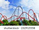 roller coaster in funny... | Shutterstock . vector #232915558