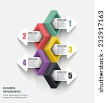 5 three dimensional color data... | Shutterstock .eps vector #232917163