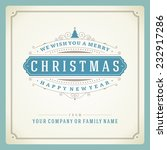 christmas retro typography and...   Shutterstock .eps vector #232917286