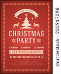 christmas party invitation... | Shutterstock .eps vector #232917298