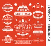 christmas decoration vector... | Shutterstock .eps vector #232920364