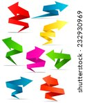 origami style arrow banners set ... | Shutterstock .eps vector #232930969