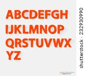 classic 3d orange alphabet with ...