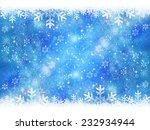 snow christmas background | Shutterstock . vector #232934944