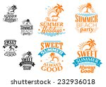 summer vacation labels or... | Shutterstock .eps vector #232936018