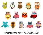 cartoon cute owl birds... | Shutterstock .eps vector #232936060