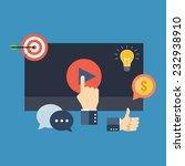 media marketing concept....   Shutterstock .eps vector #232938910