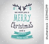 greeting card. merry christmas... | Shutterstock .eps vector #232940299