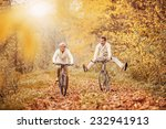 Active Seniors On Bikes In...
