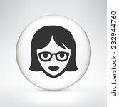 female teacher on white round... | Shutterstock .eps vector #232944760