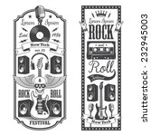two rock and roll music flayer... | Shutterstock .eps vector #232945003